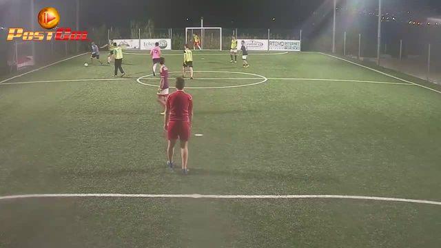Gol di Rizzo sul angolo destro basso
